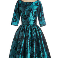 Posh at the Party Dress in Teal