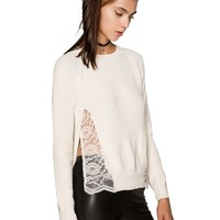 Claire Ivory Lace Sweater