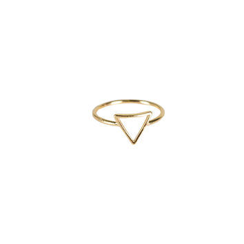 MINI TRIANGLE CUT OUT KNUCKLE RING - GOLD