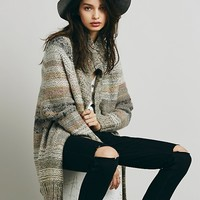 Free People Womens Starlight Shadow Poncho Cardi