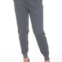 Quilt Construction Quilted Terry Joggers - Charcoal