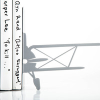 Bookends  FREE WORLDWIDE DELIVERY -Bipane- laser cut for precision metal bookends unique gift for your home