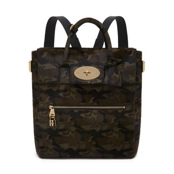 Large Cara Delevingne Bag in Khaki Camouflage Haircalf | Cara Delevingne | Mulberry