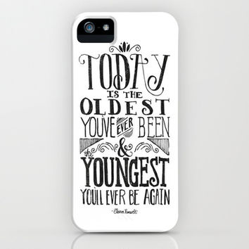 Live Today iPhone   iPod Case by Pink Berry Pattern