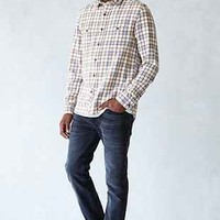 Stapleford Dawson Washed Flannel Button-Down Shirt - Urban Outfitters