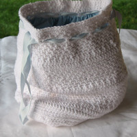 White Crocheted Tote Bag