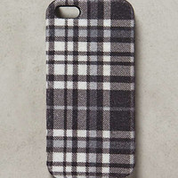 Neutral Plaid iPhone 5 Case by Anthropologie Black & White One Size Tech Essentials