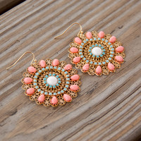 Providence Peach Drop Earrings