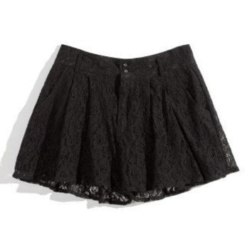 Black Lace Shorts - New Arrivals - Retro, Indie and Unique Fashion