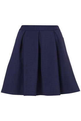 Cobalt Ribbed Pleated Skirt - Skirts  - Apparel