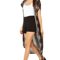 Checkprint Duster Cardigan