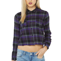 Checkered Crop Top in Purple
