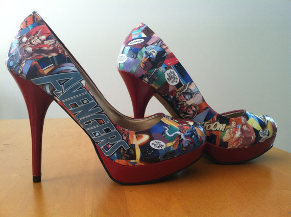 Made to Order Comic Book Heels