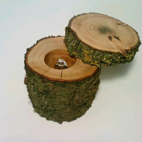 Rustic Log Jewelry Box, Ring Bearer Box, Keepsake Box