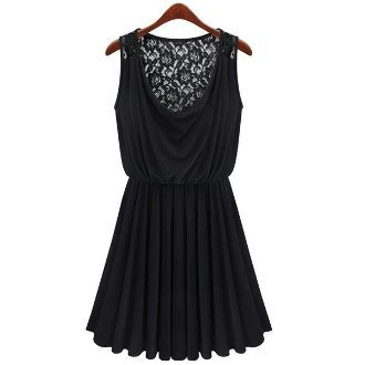 Black Lace Thin Vest Dress