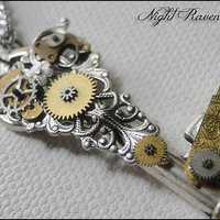 Filigree Key --- Small Steampunk Neo-Victorian Key Pendant