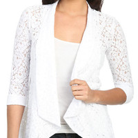 Crochet Lace Open Blazer | Shop Jackets at Wet Seal