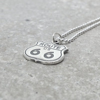 Route 66 Necklace, Sterling Silver
