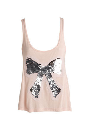 Sequin Bow Tank