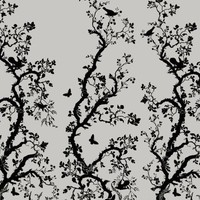 Timorous Beasties - Wallcoverings  - Birdbranch Hand-Print