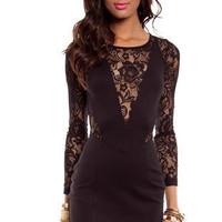 Rockin' Lace Dress in Black :: tobi