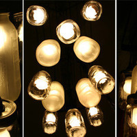 DIY Mason Jar Chandeliers: Easy Combo  Great Results | Apartment Therapy Re-Nest