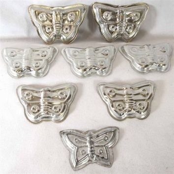 Baking Cookie Biscuit Sweet Form LOT 8 Pc BUTTERFLY Bake Madeleine Mold Tart Pan