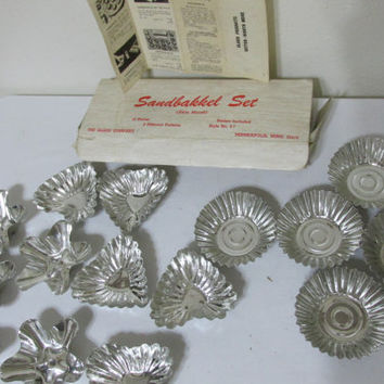Sandbakkel Mold Set of 15 Original Box and Recipe for Sandbakkel