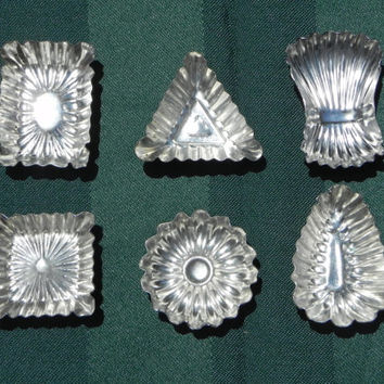 Vintage Pastry, Candy, or Dessert Molds, set of Six