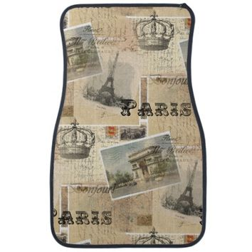 French Postcard Paris Car Mats