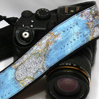 World Map Camera Strap, dSLR Camera Strap, SLR, Camera Shoulder, Neck Strap, Women Accessories