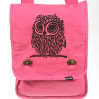 Owl Messenger Bag Pink