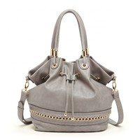 Sole Society Marja Quilted And Chain Hobo