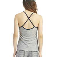 Striped Cross-Back Tank | Wet Seal