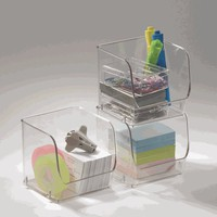 Small Stacking Bin - Clear - 4-1/2