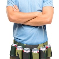 The Camoflage Beer Belt - 6-Pack Can Holster