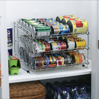 Deluxe Chrome Canned Food Storage Rack