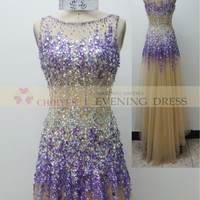 online shop BQ71463 Purple luxury crystal beaded prom dress Wedding Dress 2015, View prom dress 2015, CHOIYES Prom dress Product Details from Chaozhou Choiyes Evening Dress Co., Ltd. on Alibaba.com
