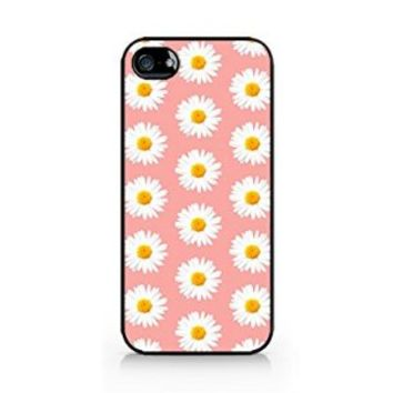 Daisy Pattern - Pink - iPhone 5/5S Black Case