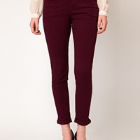 Oasis Red Cherry Crop Jean at asos.com