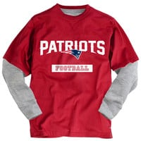 PS from Aero  Boys Long Sleeve New England Patriots 2Fer Graphic T-Shirt