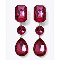 Womens Couture Crystal Drop Banquet Earring by White House B... - Polyvore