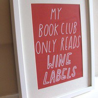 Book Wine Club Print