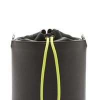 Alexander Wang Black Grained Leather Bucket Bag