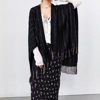 Pinstripe Fringe Shawl - Urban Outfitters
