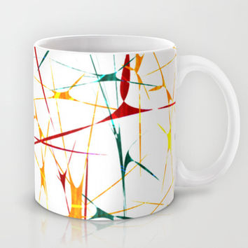 Colorful Splatter Abstract Shapes Mug by Danflcreativo