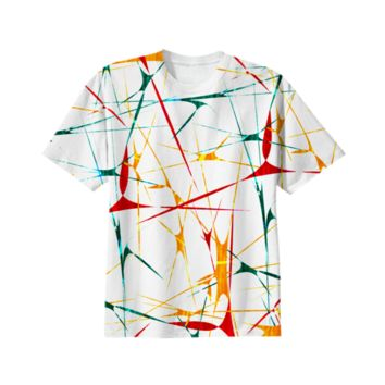 Colorful Splatter Abstract Shapes All Over T-Shirt created by Rudimencial Design | Print All Over Me