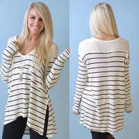 Free People Stripe Sunset Top (Ivory)