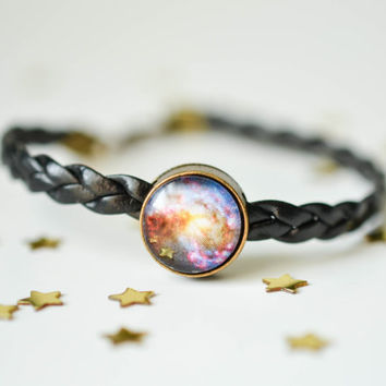 Galaxy Bracelet, Nebula Bracelet, Space Jewelry