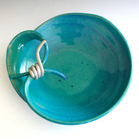 Modern Hostess Bowl, handmade ceramic dish